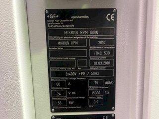 Fraiseuse Mikron HPM 800 U-13