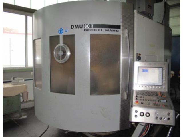 plus d'images Fraiseuse DMG DMU 80 T Turbinenschaufeln/fanblades, A.  2005